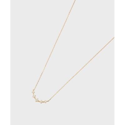 COCOSHNIK(ココシュニック) K18ダイヤモンド アーチ グラデネックレス大