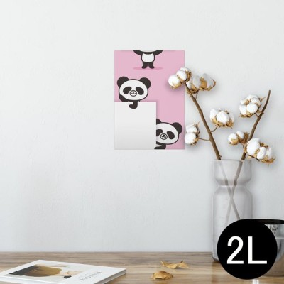 ポスター ウォールステッカー シール式 127×178mm 2L 写真 壁 インテリア おしゃれ wall sticker poster 動物 イラスト キャラクター 003437