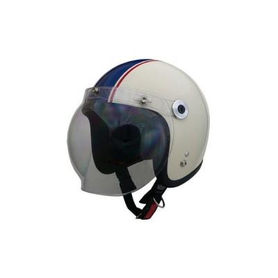 BARTON ジェットヘルメット LEAD(リード工業) BC-10 アイボリー/ネイビー