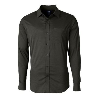 カッターアンドバック メンズ シャツ トップス Versatech Geometric-Printed Long-Sleeve Dress Shirt