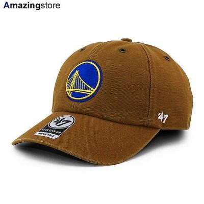 47ブランド カーハート ゴールデンステイト ウォリアーズ 【CARHARTT NBA CLEAN UP STRAPBACK CAP/BROWN】 47BRAND GOLDEN STATE WARRIORS