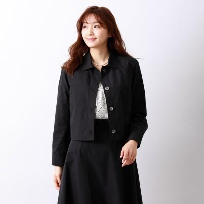 アマカ AMACA LEOFINE ショートジャケット (ブラックネイビー)