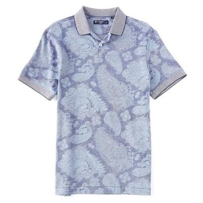 ダニエル クレミュ メンズ シャツ トップス Paisley Print Oxford Pique Short-Sleeve Polo Shirt