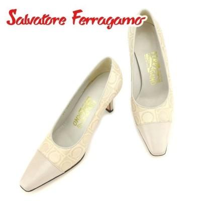 サルヴァトーレ フェラガモ パンプス シューズ 靴 #4ハーフ ガンチーニ Salvatore Ferragamo 中古