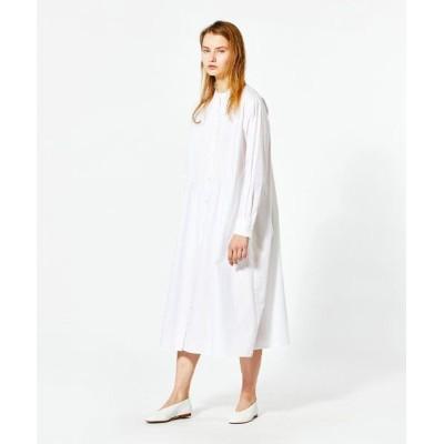 MARcourt/マーコート MIDIUMISOLID for Ladies ピンタックシャツワンピース white FREE