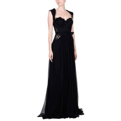 RHEA COSTA ロングワンピース&ドレス ブラック 44 シルク 75% / レーヨン 25% ロングワンピース&ドレス