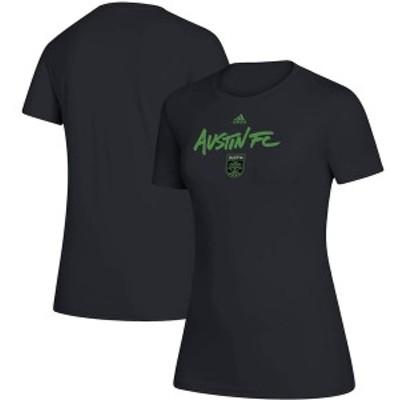 アディダス レディース Tシャツ トップス Austin FC adidas Women's Wordmark Goals T-Shirt Black