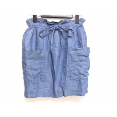 ジャスグリッティー JUSGLITTY ミニスカート サイズ0 XS レディース ブルー【中古】