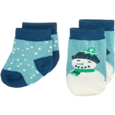 Hatley ハットレイ LBH Cheerful Snowman ベビー用靴下 スノーマン マルチカラー 綿55%, ナイロン44%, ポリウレタン
