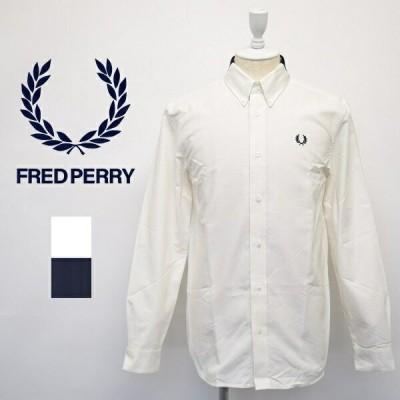 メンズ Fred Perry フレッドペリー 長袖 切り替え ポロ衿 ボタンダウン シャツ M8572