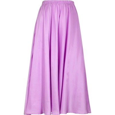 ヴィンス Vince レディース ひざ丈スカート スカート Lilac Silk Midi Skirt Purple