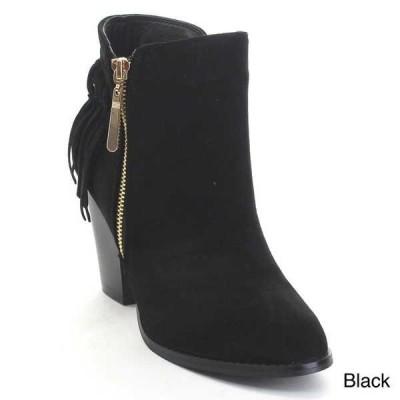 ブーツ シューズ 靴 海外厳選ブランド BELLA MARIE KENZIE 27 レディース Deliキャットe ジップ Up Fリングe Mid Stacked アンクルブーティー BLACK