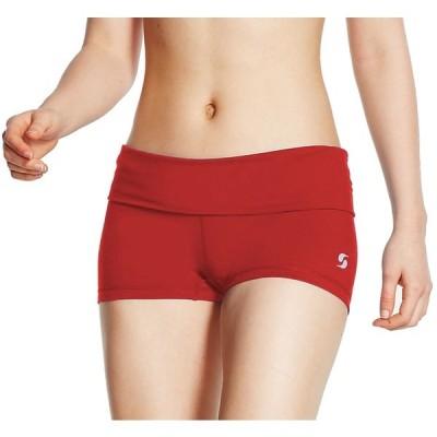 ソッフ カジュアルパンツ ボトムス レディース Soffe Juniors Rolldown Active Shorts Red