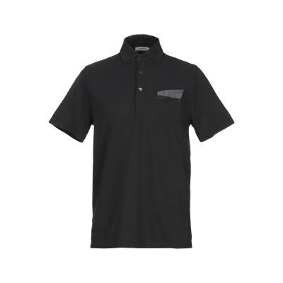 アルファスタジオ ALPHA STUDIO ポロシャツ ブラック 46 コットン 100% ポロシャツ