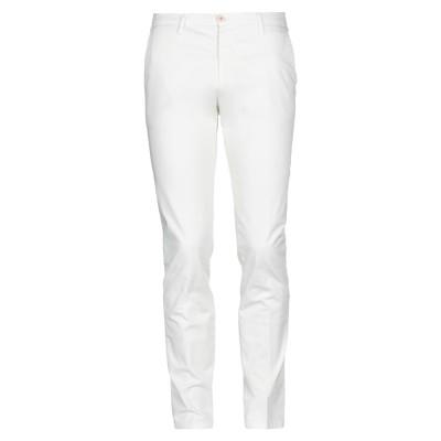 マニュエル リッツ MANUEL RITZ パンツ ホワイト 52 コットン 97% / ポリウレタン 3% パンツ