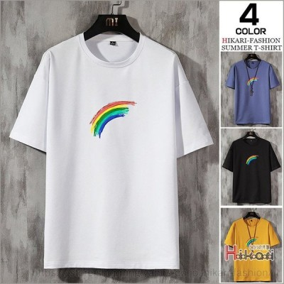 メンズ半袖Tシャツ夏物カジュアルTシャツトップスTシャツ半袖クルーネック綿100%細身