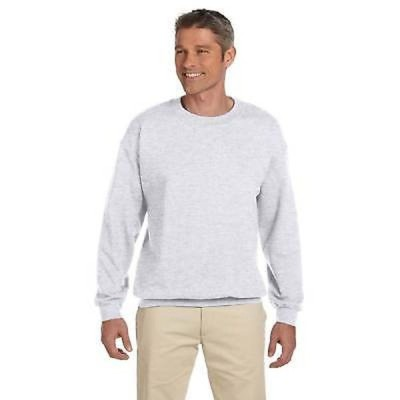 メンズスゥエット パーカー ヘインズ Ultimate Cotton 90/10 Fleece Men's Crew-Neck Ash Sweater Grey