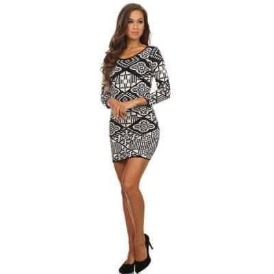 アンブランデッド レディース Grey/Black Rayon/Polyester Body-con Mini Dress