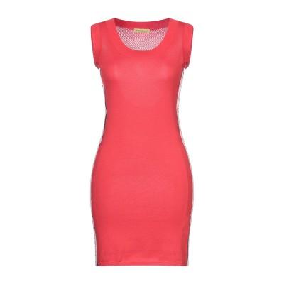 VERSACE JEANS ミニワンピース&ドレス レッド XS コットン 100% ミニワンピース&ドレス