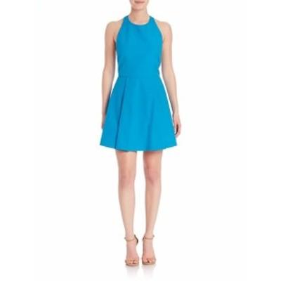 アリス+オリビア レディース ワンピース Christie Fit &amp Flare Halterneck Dress