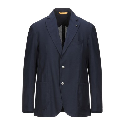 GH テーラードジャケット ダークブルー 54 バージンウール 54% / コットン 46% / リネン テーラードジャケット