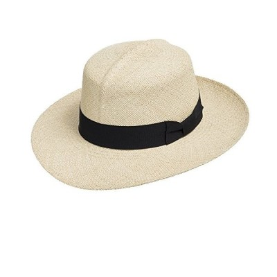 Ultrafino Travel Rollup Packable Foldable Panama Natural Straw Hat 7 3/4 Beige【並行輸入品】