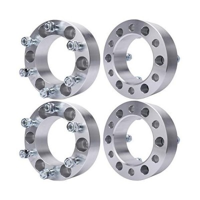 "MAYASAF Wheel Spacers [2"" THICK, 4 PACK, 6 Lugs] for Toyota Tacoma/Tundra/4Runner/Sequoia, for Mazda Mitsubishi Isuzu Pick"