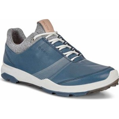 エコー レディース スニーカー シューズ BIOM Hybrid 3 Tie GORE-TEX Golf Shoe Denim Blue Yak Leather