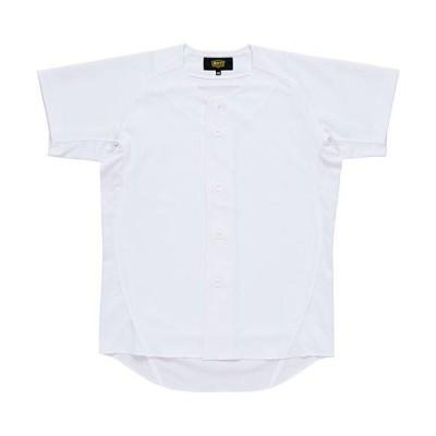 ゼット(ZETT) ジュニア 野球 少年用 ユニフォーム ニットフルオープンシャツ メカパン ホワイト BU2181S 1100 少年野球 ウェア ユニホーム 試合 練習着
