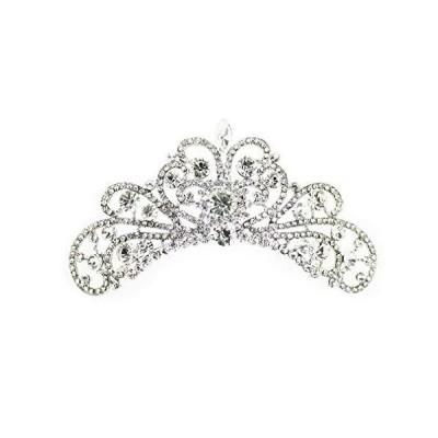 ティアラ 結婚式 キュービックジルコニア 王冠 ウエディング ティアラ ブライダル tiara 髪飾り ft8049sr
