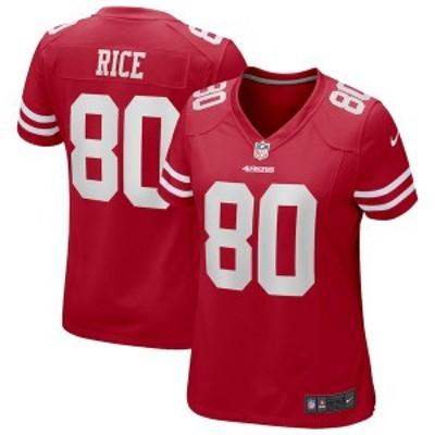 ナイキ レディース Tシャツ トップス Jerry Rice San Francisco 49ers Nike Women's Game Retired Player Jersey ? Scarlet