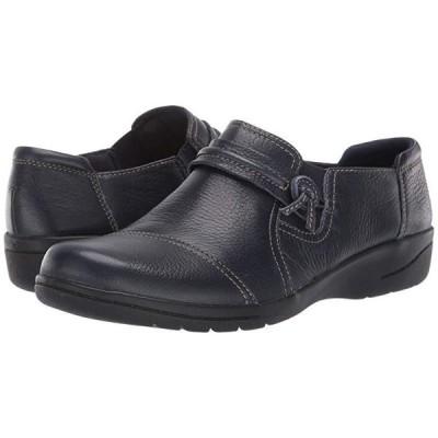 クラークス Cheyn Madi レディース ローファー Navy Tumbled Leather