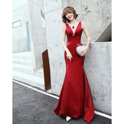ロングドレス 演奏会 パーティードレス マーメイド 結婚式 ウェディングドレス カラードレス 二次会ドレス イブニングドレス お花嫁ドレス 姫系 大きいサイズ