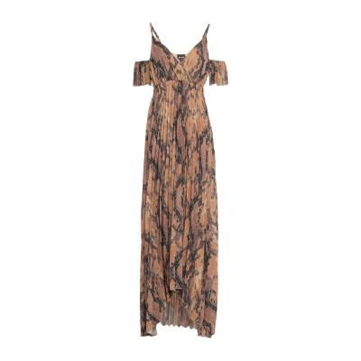 ジャストカヴァリ JUST CAVALLI ロングワンピース&ドレス ブラウン 38 ポリエステル 100% ロングワンピース&ドレス