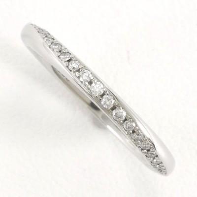 リング 銀座ダイヤモンドシライシ PT950 8号 ダイヤ 0.108 サファイア 総重量約2.9g