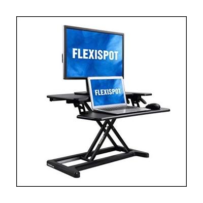 """flexispot Stand Upデスクコンバータ???SANDINGデスクライザーwith Deeperノートパソコンのキーボードトレイ 28"""" ブラッ"""