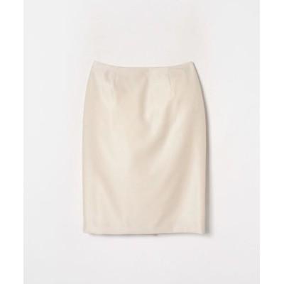 LANVIN COLLECTION/ランバン コレクション シルクウールシャークスキンスカート ホワイト1 36