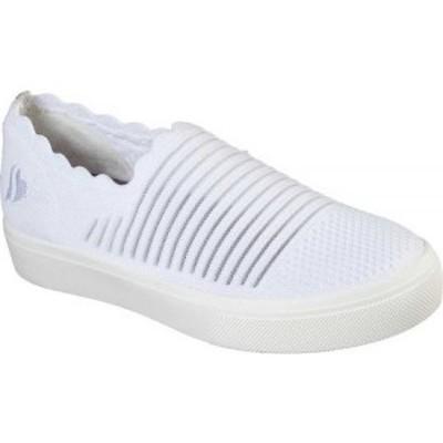 スケッチャーズ Skechers レディース スリッポン・フラット スニーカー シューズ・靴 Poppy Breezy Street Slip-on Sneaker White