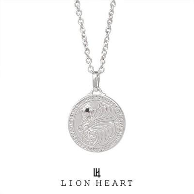 ライオンハート HOWL ハウルコインネックレス/アズキチェーン 01NE0521BK LION HEART シルバー ネックレス [LH]