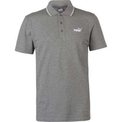 プーマ Puma メンズ ポロシャツ トップス No 1 Logo Pique Polo Shirt Grey/White