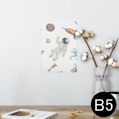 ポスター ウォールステッカー シール式 182×257mm B5 写真 壁 インテリア おしゃれ wall sticker poster 宇宙 UFO スペース 013608