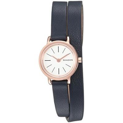 スカーゲン Skagen 腕時計 Skagen  Women's  SKW2598 Hagen Mini Blue Leather Double Wrap Watch