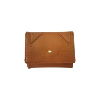 送料無料 (代引き不可)Sunny Side(サニーサイド) キャットがま口折財布 CAM JW-0305-22