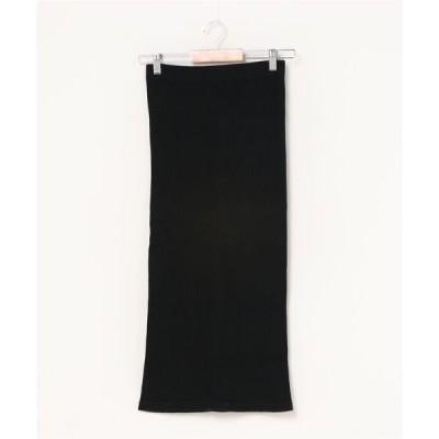 スカート 【HANES/ヘインズ】1Pリブロングスカート HW9−S502 ストレッチ素材で快適で 使いやすいロングスカート