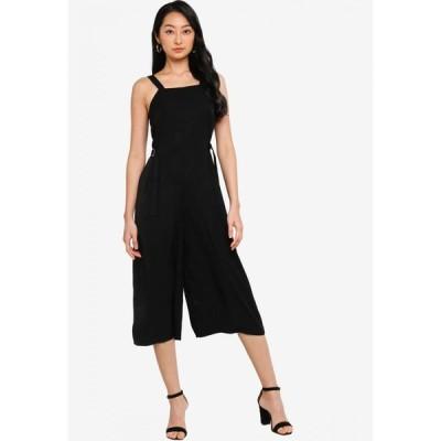 ザローラ Zalora Basics レディース オールインワン ジャンプスーツ ワンピース・ドレス Side Buckle Relax Jumpsuit Black