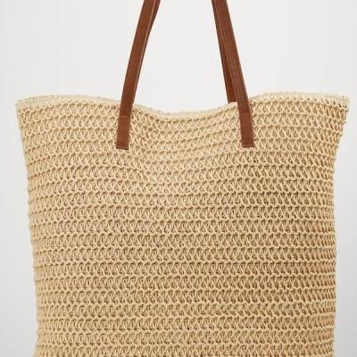 ヴェロモーダ レディース アクセサリー VMSISSO BEACH BAG - Tote bag - creme brulee