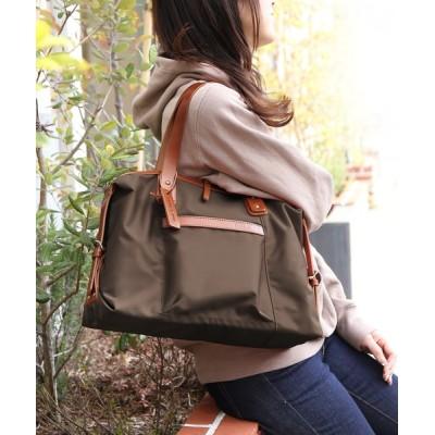 三京商会 / [HALEINE]ナイロン栃木レザーミニ ボストンバッグ日本製 WOMEN バッグ > ボストンバッグ