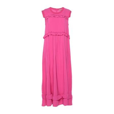 ツインセット シモーナ バルビエリ TWINSET 7分丈ワンピース・ドレス フューシャ 40 レーヨン 95% / ポリウレタン 5% 7分丈ワン