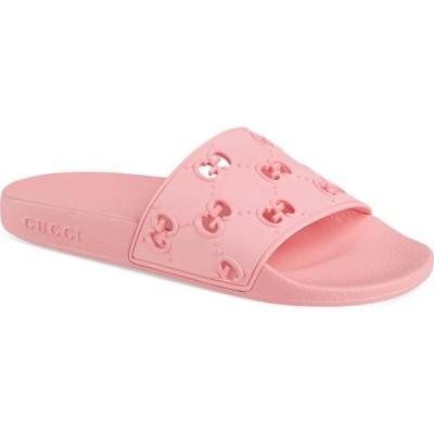 グッチ GUCCI レディース サンダル・ミュール スライドサンダル シューズ・靴 Pursuit GG Logo Slide Sandal Rose Box
