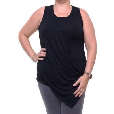 ユニセックス 衣類 トップス Bar III Deep Black Top Blouse Sleeveless Size M NWT - Movaz ブラウス&シャツ